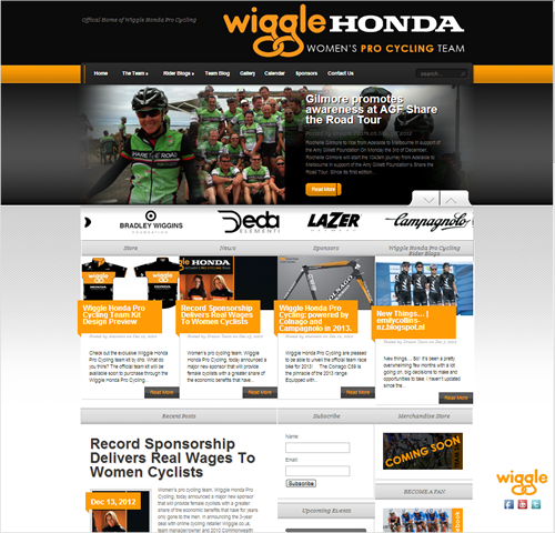 Wiggle Honda Women's Pro Cycling Team Webs