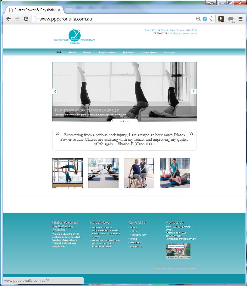 PIlates power wordpress website