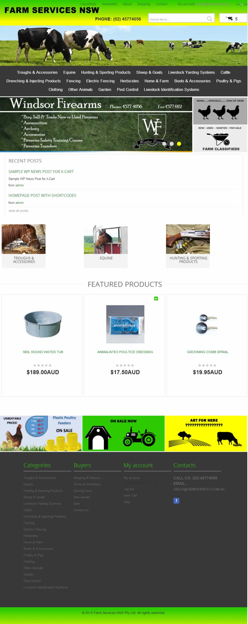 X-Cart 5 ecommerce website