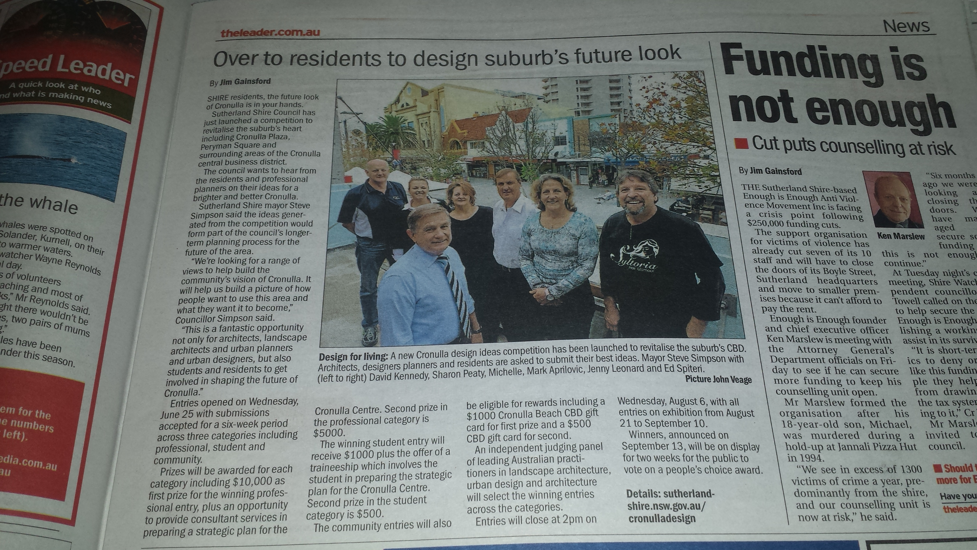 Sutherland Shire Leader Photo with Steve Simpson