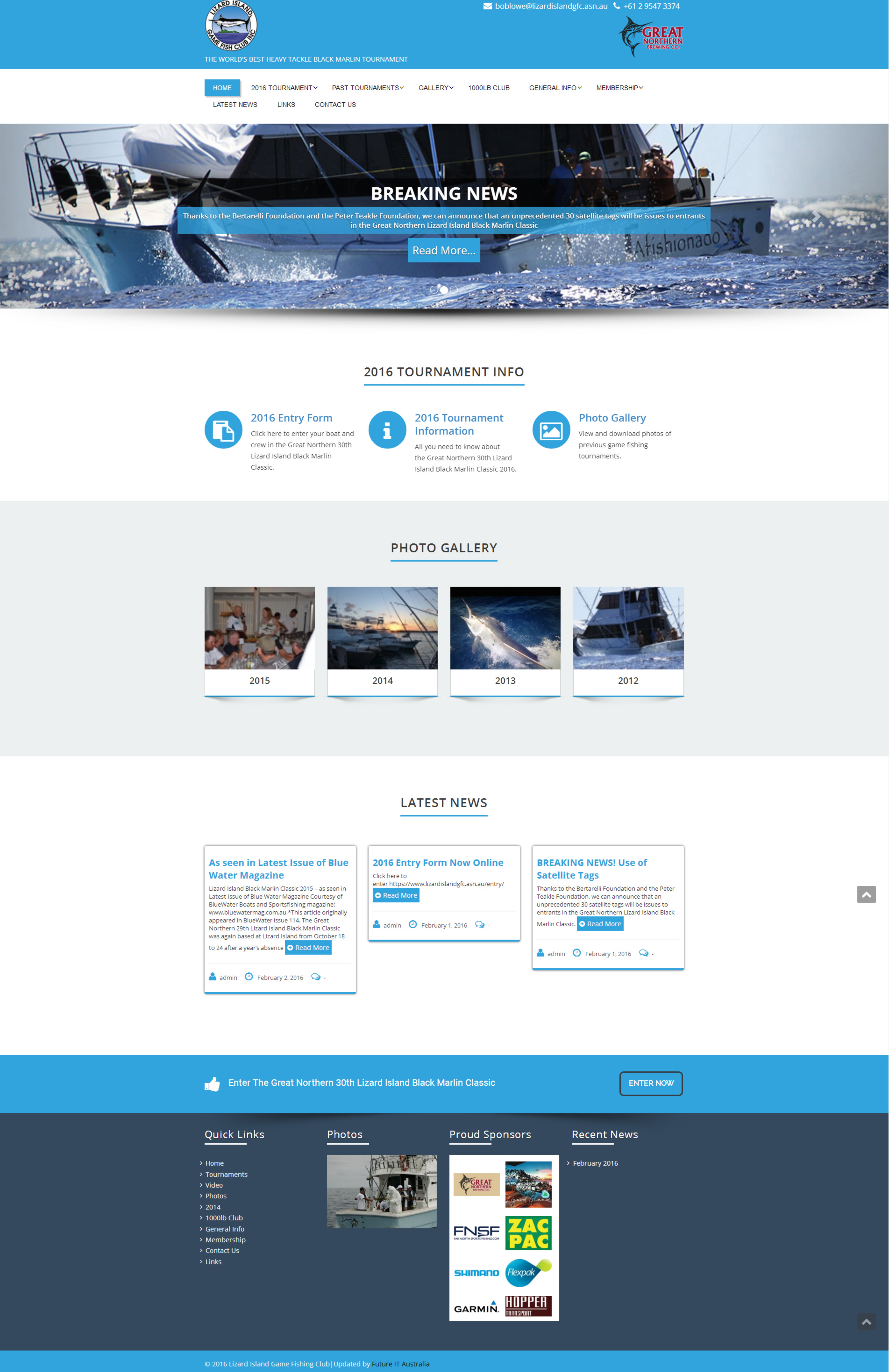Lizard Island Game Fishing Club Wordpress Website