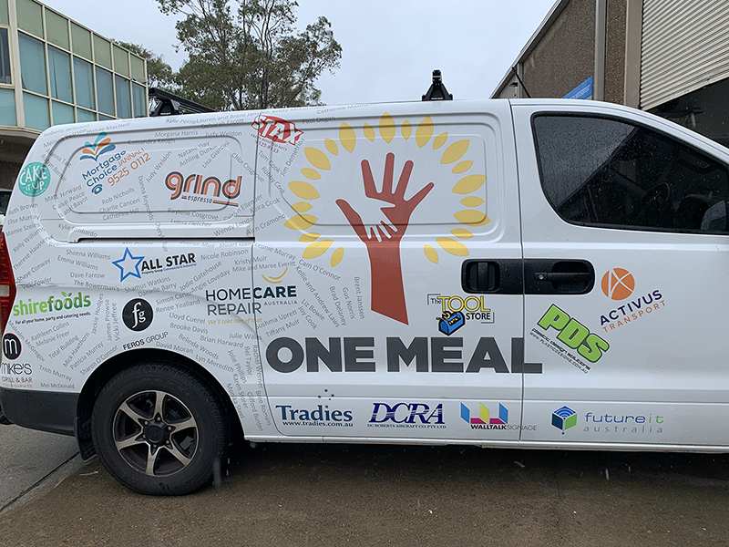 Proud Sponsor of One Meal – It Makes a Difference for the homeless and underprivileged.